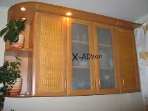 Кухня с рамочными фасадами.